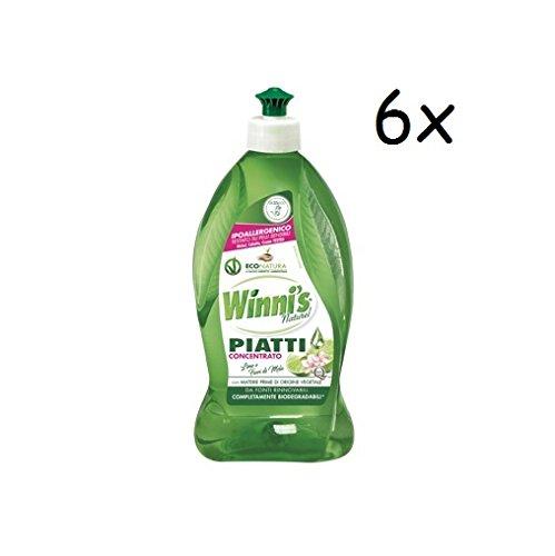 6 x Winni s Limón concentrado líquido lavavajillas Detergente ...