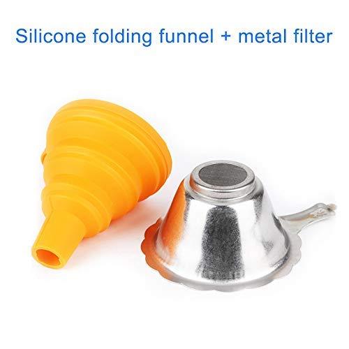 Monggood Metal UV Resina Filtro Taza + Silicon Embudo Desechables para Anycubic Photon SLA 3D Impresora