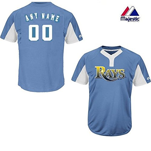 Lt Blue/White 2-Button Cool-Base Tampa Bay Rays Blank or CUSTOM Back (Identify/#) MLB Officially Licensed Baseball Placket Jersey – DiZiSports Store