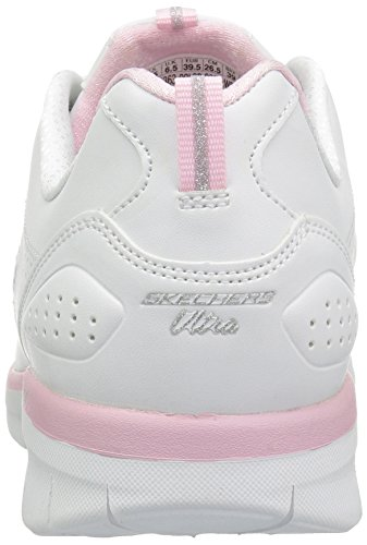 0 pink 2 Para Synergy Skechers White Mujer Zapatillas 0fBExqZw