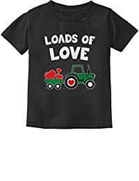 Loads of Love Valentine's Gift Tractor Loving Toddler/Infant Kids T-Shirt