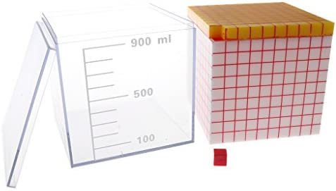 6色選択 知育 学習玩具 ボリューム プレゼンテーション ユニットキット - 1000個キューブ