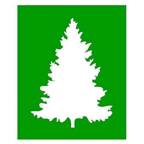 Auto Vynamics - STENCIL-TREE-07 - Tree Design 7 Individual Stencil from Detailed Tree/Trees Stencil Set! - 8.5-by-10-inch Sheet - Single Design (Dead Tree Stencil)