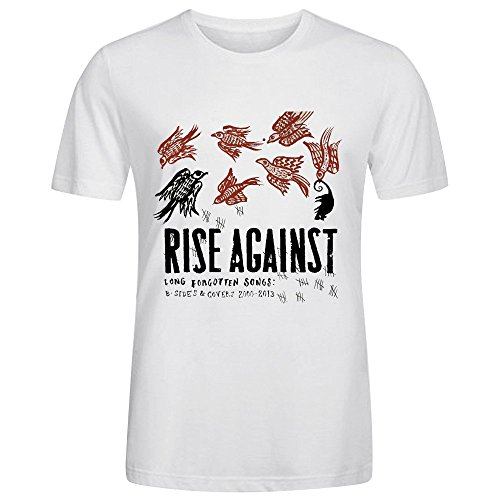 rise-against-long-forgotten-songs-b-sides-covers-2000-2013-printed-t-shirts-for-men-crew-neck-white