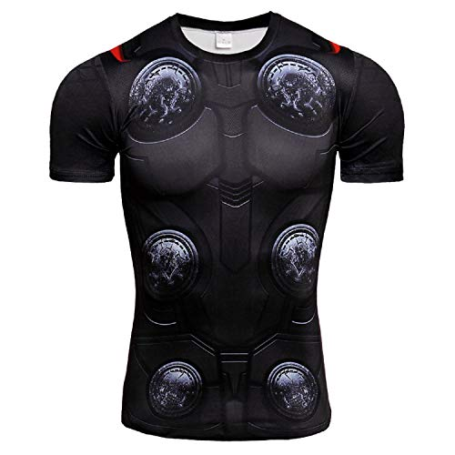 New Thor t Shirt Men's Sports Compression Shirt (XXX-Large) Black - New Xxx Large T-shirt