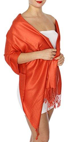 Pashmina Scarfs for women large cashmerefeel reversible shawl wraps | soft wedding scarf (Reversible Paisley Pashmina Shawl)