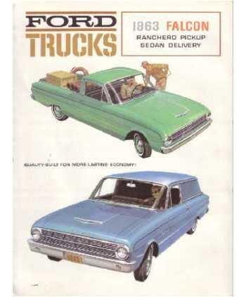 1963 FORD TRUCK & PICKUP BEAUTIFUL DEALERSHIP SALES BROCHURE - ADVERTISMENT - INCLUDES F-100 F100 - 63 (Brochure Ranchero)