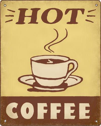 Amazon.com: Hot Coffee - Retro Coffee Shop Sign / Vintage Wall Decor ...