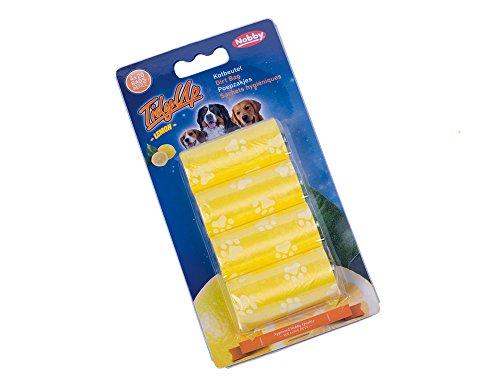 Nobby 67387Tidyup Lemon Poop Bag with Paw Prints 4Rolls of 20Bags