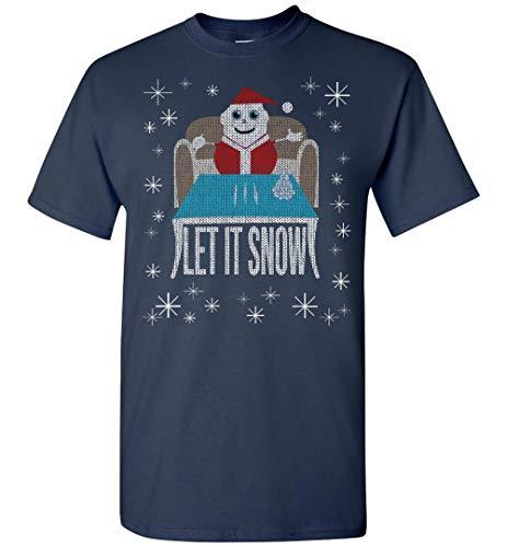 CLOTHINGFORFUN Walmart_Cocaine-Funny Let It Snow Party Santa Christmas Tacky Sweater T-Shirt (Sweaters Wal Christmas Mart)