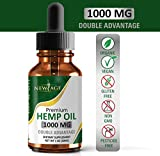 Hemp Oil Extract for Pain, Anxiety & Stress Relief - 1000mg of Pure