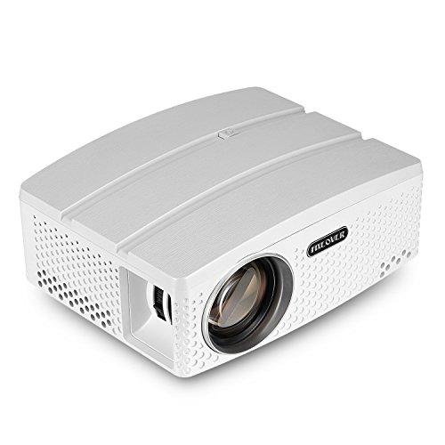 "Fixeover Portable Projector GP80+, Full HD projector Supports 1080P, 180"" Display for Outdoor Movie Nights Games, Home Theater Projector by FIXEOVER"