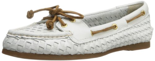 Sperry Top-Sider Women's Audrey Woven Boat Shoe,White,6 M US