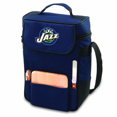 NBA Utah Jazz Duet Insulated 2-Bottle Wine and Cheese Tote