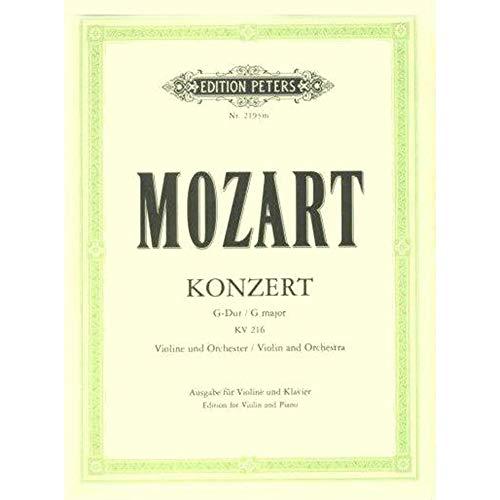 Mozart, W.A. - Concerto No. 3 in G Major, K. 216 Violin and Piano - Edition Peters