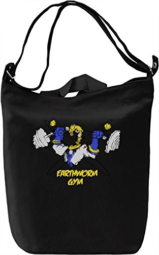 Earthworm Gym Borsa Giornaliera Canvas Canvas Day Bag| 100% Premium Cotton Canvas| DTG Printing|