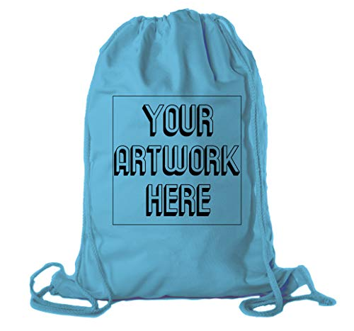 Customized Softball Team Backpacks, Personalized Sports Drawstring Cinch Sacks - 3PK Teal CE2725Softball ()