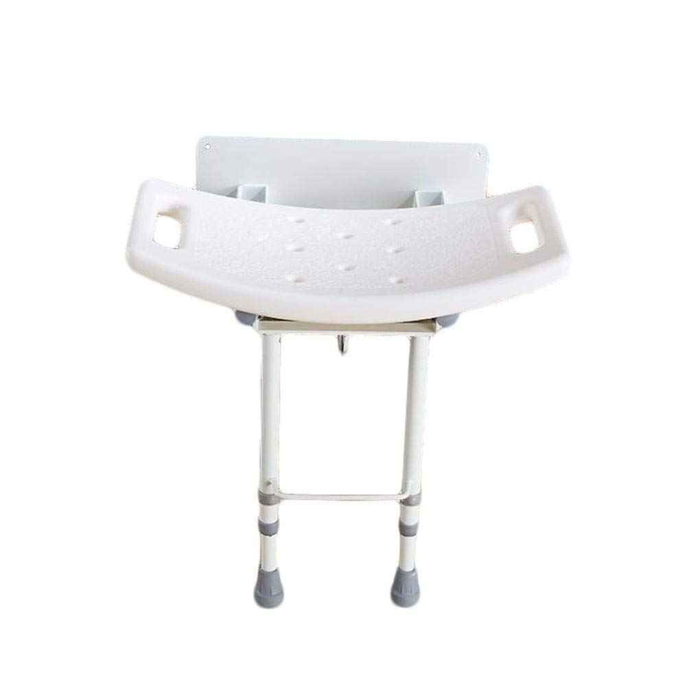 Beauty Aluminum Alloy Foldable Shower Stool,Non-Slip Bath Stool for The Elderly and Pregnant Women, Weight Bearing 115kg by BEAUTY--shower stool