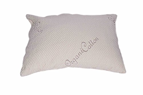 ble Queen Pillow - Organic Cotton Cover - Mix Blend of Latex Noodles and Kapok Silk (60%/40%) ()