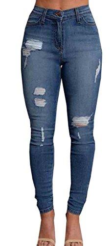 Uncinba Women's Autumn Sexy Slim Jeans Skinny Denim Pants,Blue,Medium