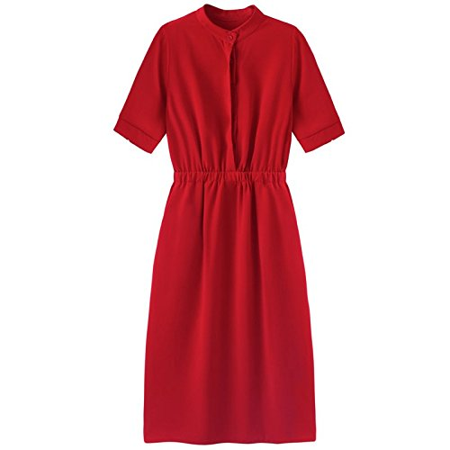 Longue Robe Gueules MiGMV de Habille Rouge Robe S de la la qOvvtwPx