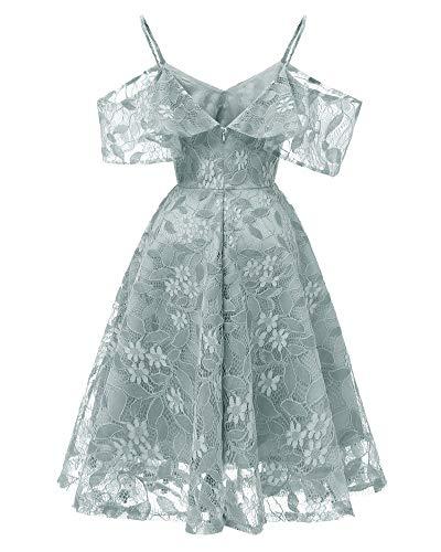 Temperamento Cordón Gray Del Noche La Manera vestido Vestido Las Mujeres Elegante De Yuezhang Delgada Honda pgq87wFW