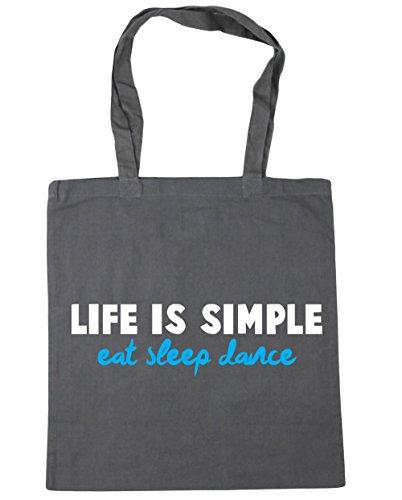 litres x38cm Life 42cm HippoWarehouse Shopping Dance Tote Simple Grey Graphite Bag Sleep Eat Gym 10 is Beach 4Hq6wHR