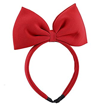 Amazon.com   Special Beauty Nice Big Bow Hairband 2018 New Christmas Hair  Accessories for Girls Women Headband Large Hair Bow Hair Bands Headwear red    ... 9324188fd53