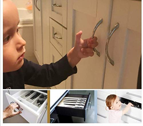 Eco-Baby Cabinet Locks for Babies - 6 Childproof Safety Latches, 2 Keys - Magnetic Baby Proof Lock for Cabinets, Doors, Drawers - Easy to Install Child Proofing