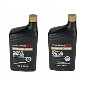 Acura Honda Engine Oil 0w 20 Synthetic Blend 1