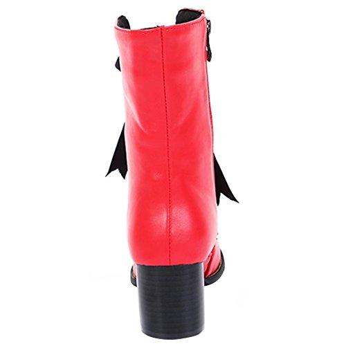 AIYOUMEI Women's Classic Boot Red 818XM