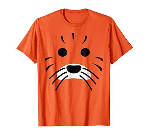 Halloween Tiger Lion Face Costume Shirt Women, Men