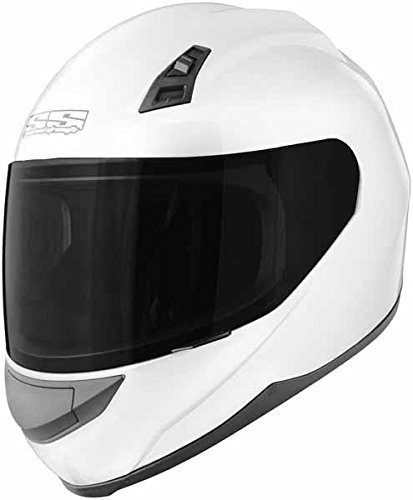 Speed and Strength Solid Speed Adult SS700 On-Road Racing Motorcycle Helmet - White / Medium
