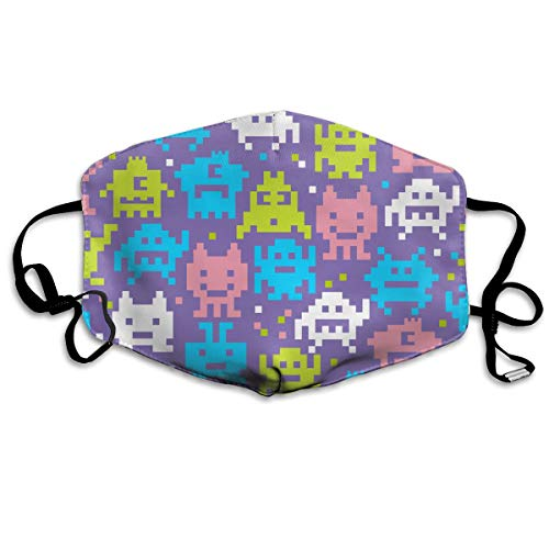 SyjTZmopre Pixelated Aiens Mouth Mask Unisex Printed Fashion Face Anti-dust Masks -