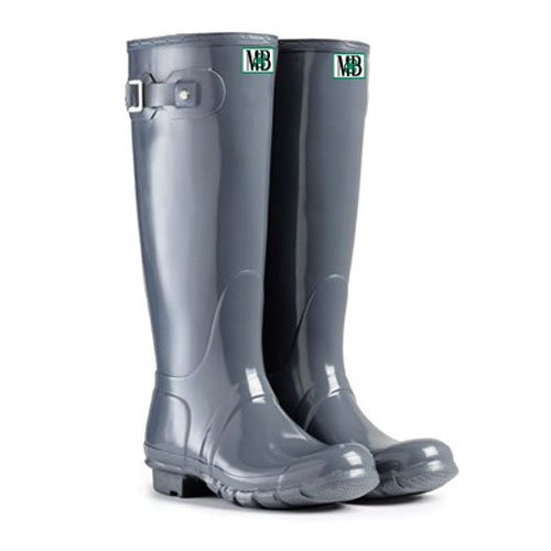 Moneysworth and Best Women's Tall Rubber Welly Boot B00MOFCXVS 6|Grey