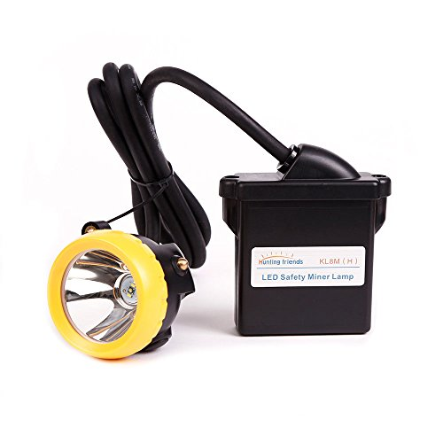 8000mAh LED Mining Headlamp, Flashlight Headlight Reachargable Mining Lights KL8M(H) Explosion Proof Waterproof Cap Lamp for Hunting Fishing Running -