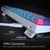 61 Mini Mechanical Keyboard,BOYI Mini RGB PBT
