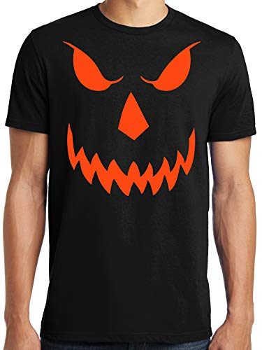 Big and Tall King Size Halloween Costume Evil Scary Pumpkin T-Shirt ()