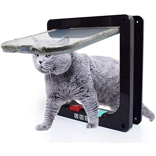 Playpens Cat Doors Interior Doors, 4 Way Locking Cat Flap Door Window Interior Outdoors, Easy Install On Doors Cupboard…