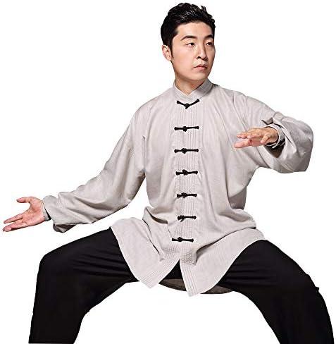 太極拳の服の女性の春と秋と冬の中国風の男性太極拳ボクシングトレーニング武道服,A-M
