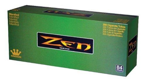 1 Box - 200pc Zen King Size Menthol Cigarette Tubes by Zen