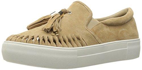 JSlides Women's Aztec2 Fashion Sneaker, Sand Suede, 7.5 M US