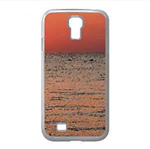 Sunset Watercolor style Cover Samsung Galaxy S4 I9500 Case (Beach Watercolor style Cover Samsung Galaxy S4 I9500 Case)