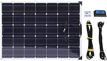 Monokristalline Solarmodule, 150W Solarpanel+ 20A Solarregler + 10M MC4 Verlängerungskabel, Solar Ladegerät Sonnenkollektor Solaranlage für Auto Motorrad Traktor Boot 12V Batterien