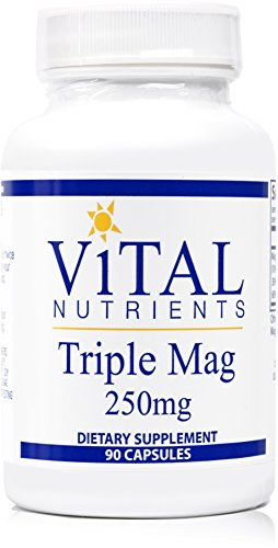 Vital Nutrients - Triple Mag 250 mg - Magnesium for Enhanced Absorption - 90 Capsules