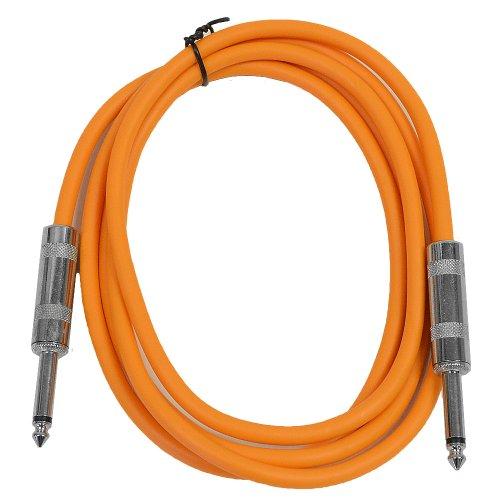 Seismic Audio - SASTSX-6-6 Foot TS 1/4 Guitar, Instrument, or Patch Cable Orange - Orange Bass Guitar