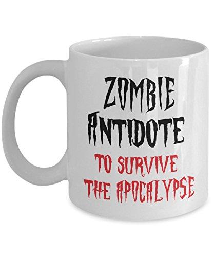 Zombie Antidote To Survive The Apocalypse Coffee Mug Halloween Gift Idea For Men Women White 11oz Ceramic