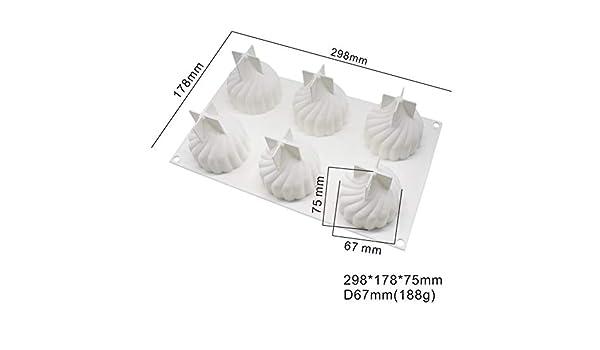 MOMEY 1pcs 3D Silicona Molde Pastel decoración Hornear pastelería ...