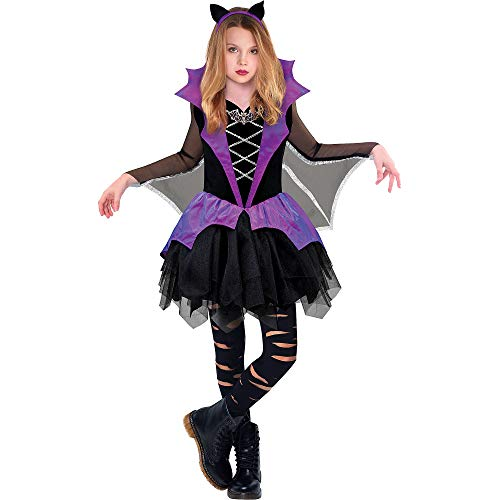 Miss Battiness Vampire Halloween Costume for Girls, Medium, with Included Accessories, by Amscan -