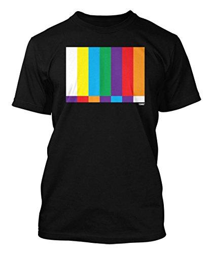 TV Test Pattern - Geek Men's T-shirt (Small, BLACK)